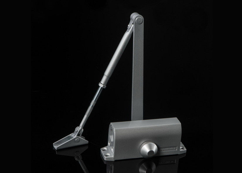 Fire Safety Small Aluminum Door Closer Light Duty Regular Arm Noiseless Easy Close